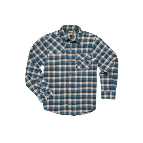 Howler Brothers Kids Harker's Flannel Pilgrim Plaid Shirt WHALBLUE
