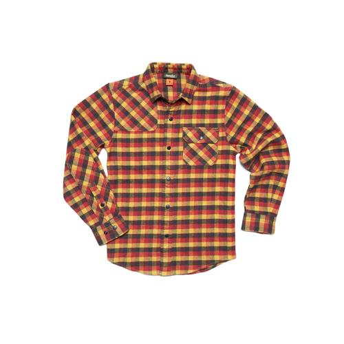 Howler Brothers Kids Harker's Flannel Pilgrim Plaid Shirt Mlwgold