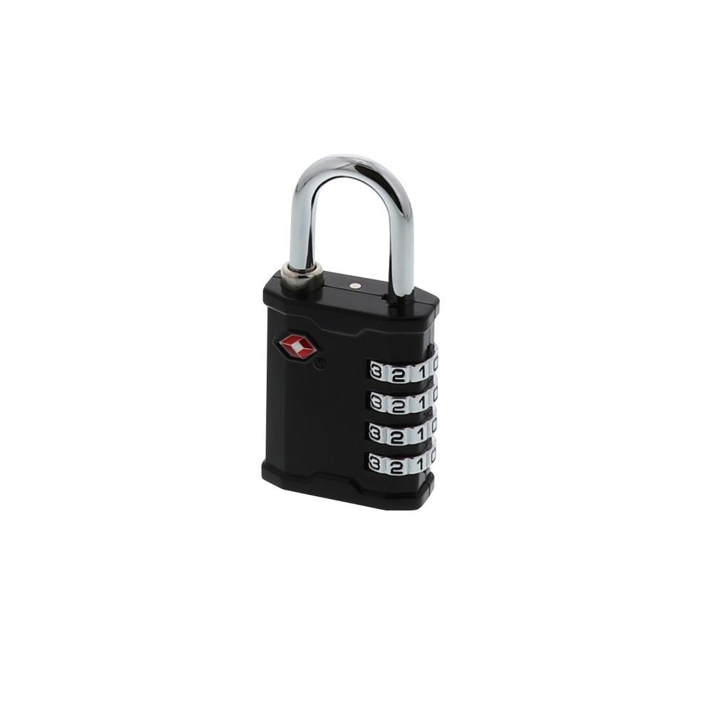 Lewis N. Clark Travel Sentry 4-Dial Combination Lock - Large Heavy Duty BLACK