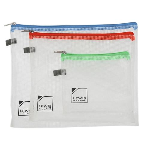 Lewis N. Clark Travel Pouch Set - 3-Pack CLEAR