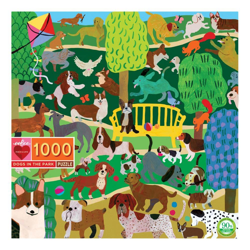 Eeboo Dogs In The Park 1000 Piece Jigsaw Puzzle