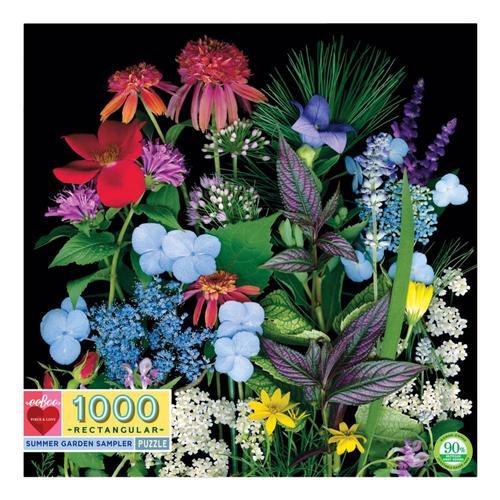 eeBoo Summer Garden Sampler 1000 Piece Puzzle
