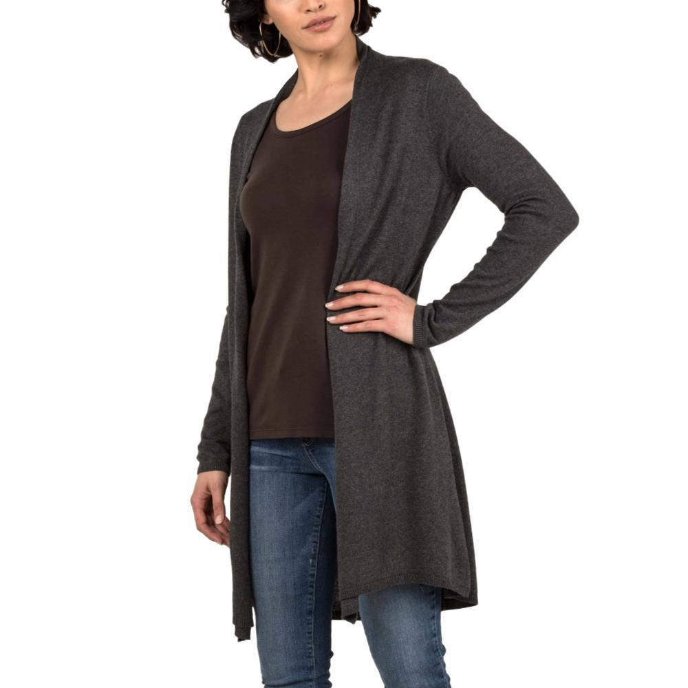 Indigenous Designs Women's Organic Essential Knit Cardigan CHARCOAL