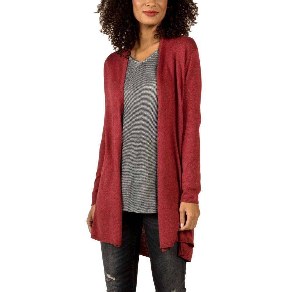 Indigenous Designs Women's Organic Essential Knit Cardigan CHERRY