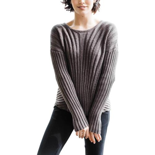 Indigenous Designs Women's Boxy Rib Pullover Stone