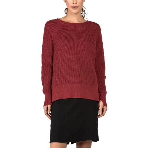 Indigenous Designs Waffle Knit Sweater Cherry