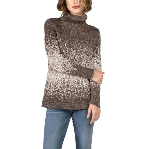 Indigenous Designs Women's Speckled Funnel Neck Pullover Neutral