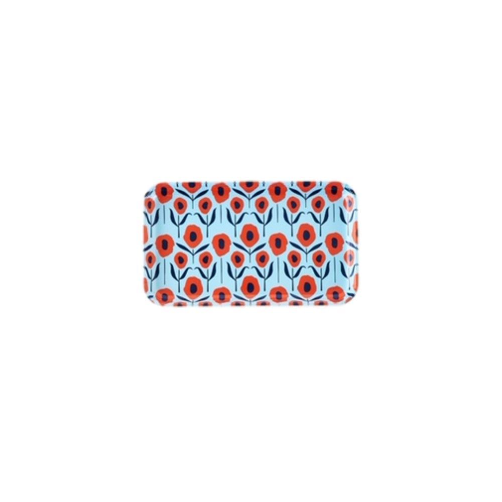 One Hundred 80 Degrees Poppy Small Rectangular Tray BLUE