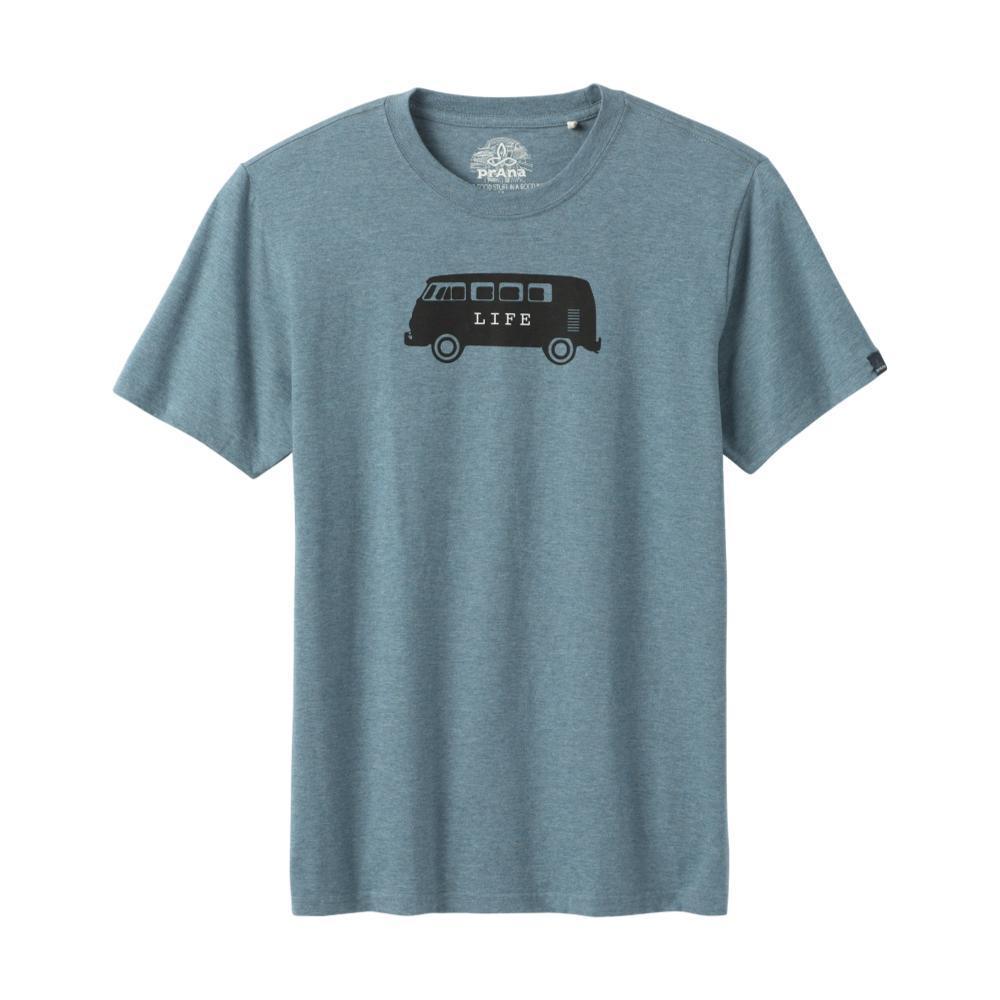 prAna Men's Will Travel Journeyman T-Shirt BLUENOTEHT
