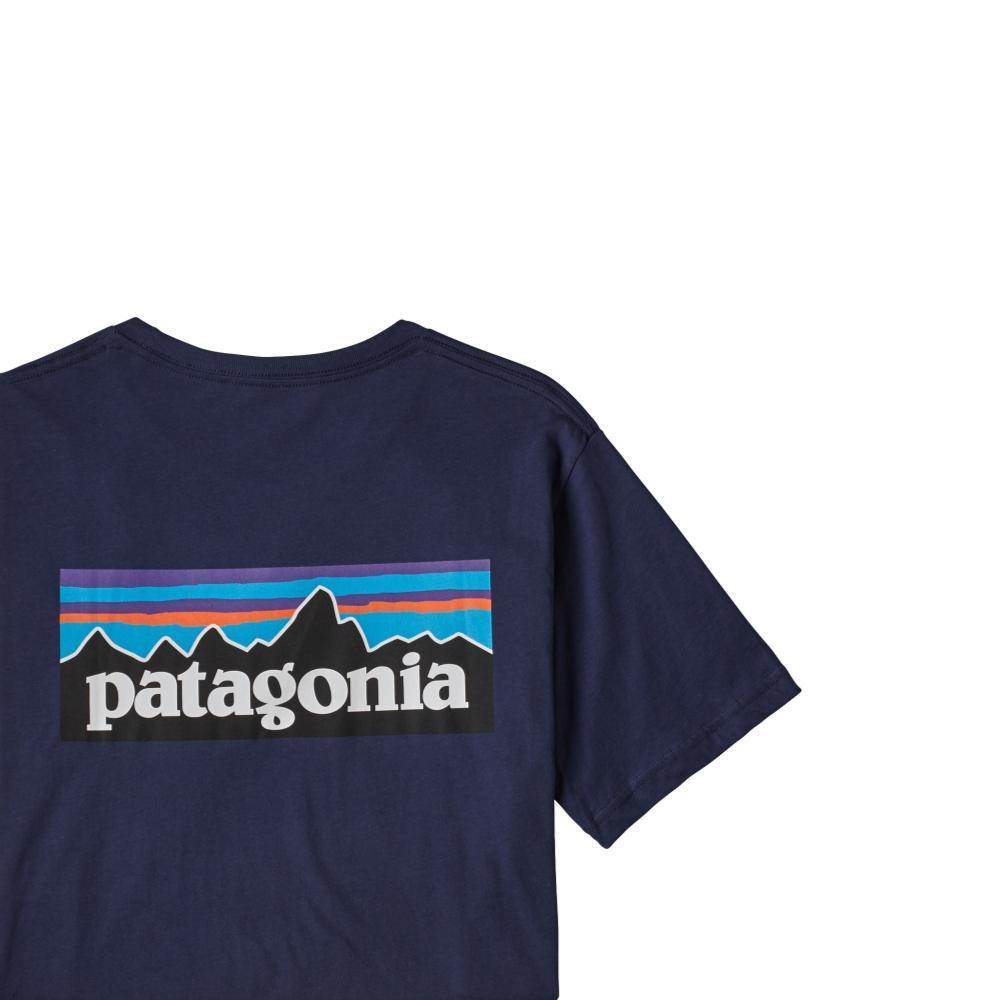 Patagonia Men's P-6 Logo Organic Cotton T-Shirt NAVY_CNY