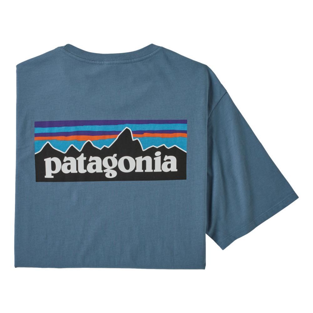 Patagonia Men's P-6 Logo Organic Cotton T-Shirt PBLUE_PGBE