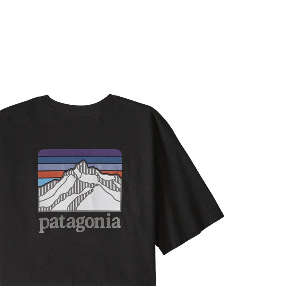 Patagonia Men's Line Logo Ridge Pocket Responsibili-Tee BLACK_BLK