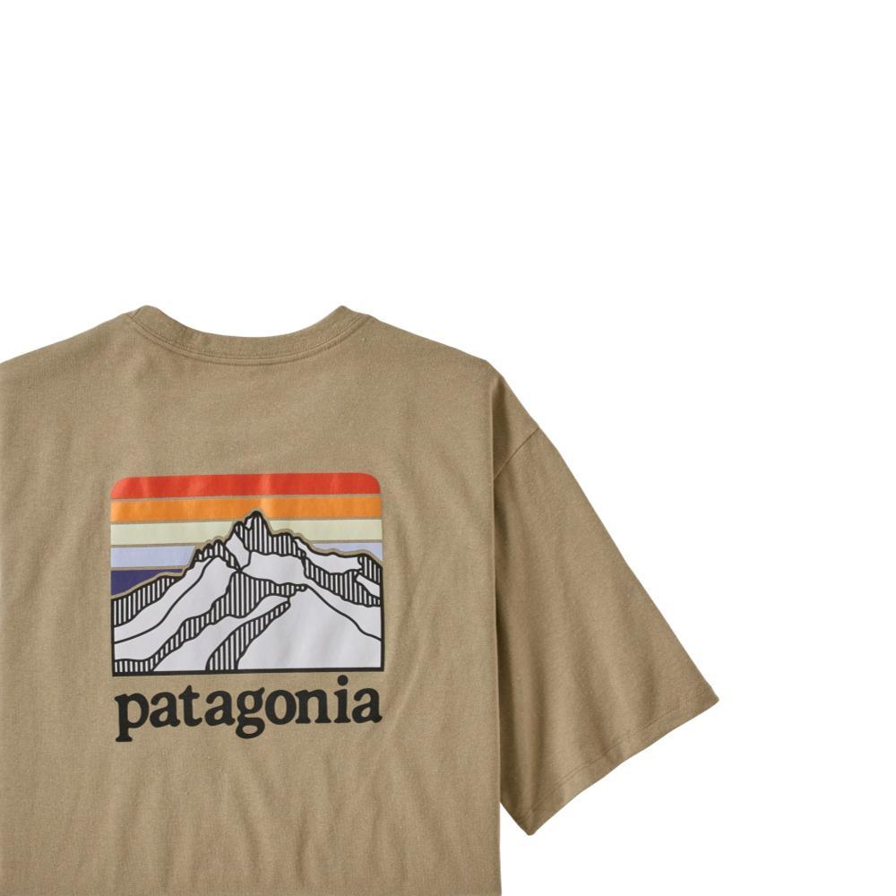 Patagonia Men's Line Logo Ridge Pocket Responsibili-Tee TAN_CSC