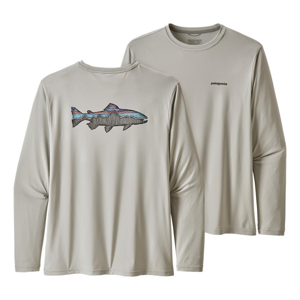 Patagonia Men's Long-Sleeved Capilene Cool Daily Fish Graphic Shirt TGREY_SFTA