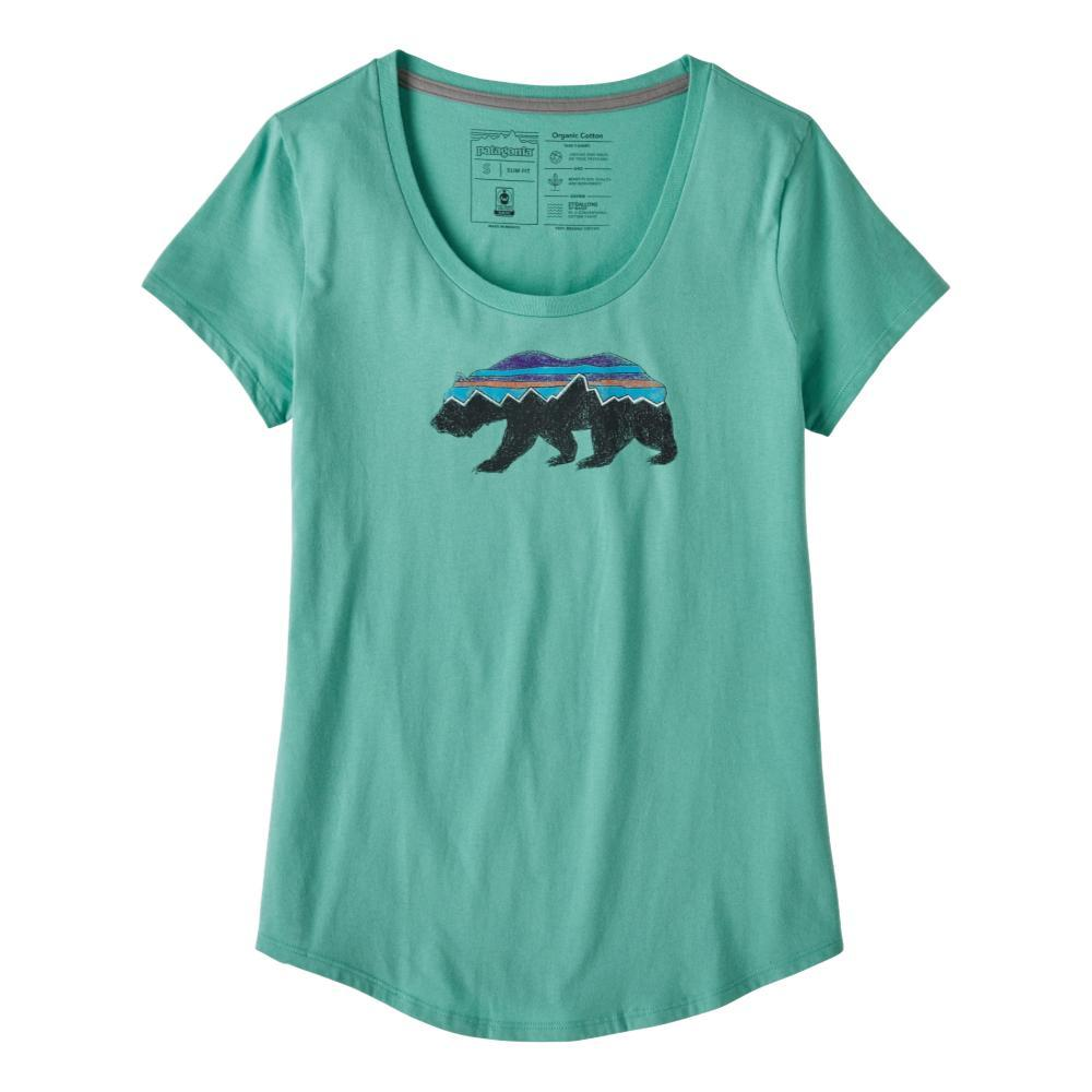 Patagonia Women's Fitz Roy Bear Organic Cotton Scoop T-Shirt GREEN_LBYG