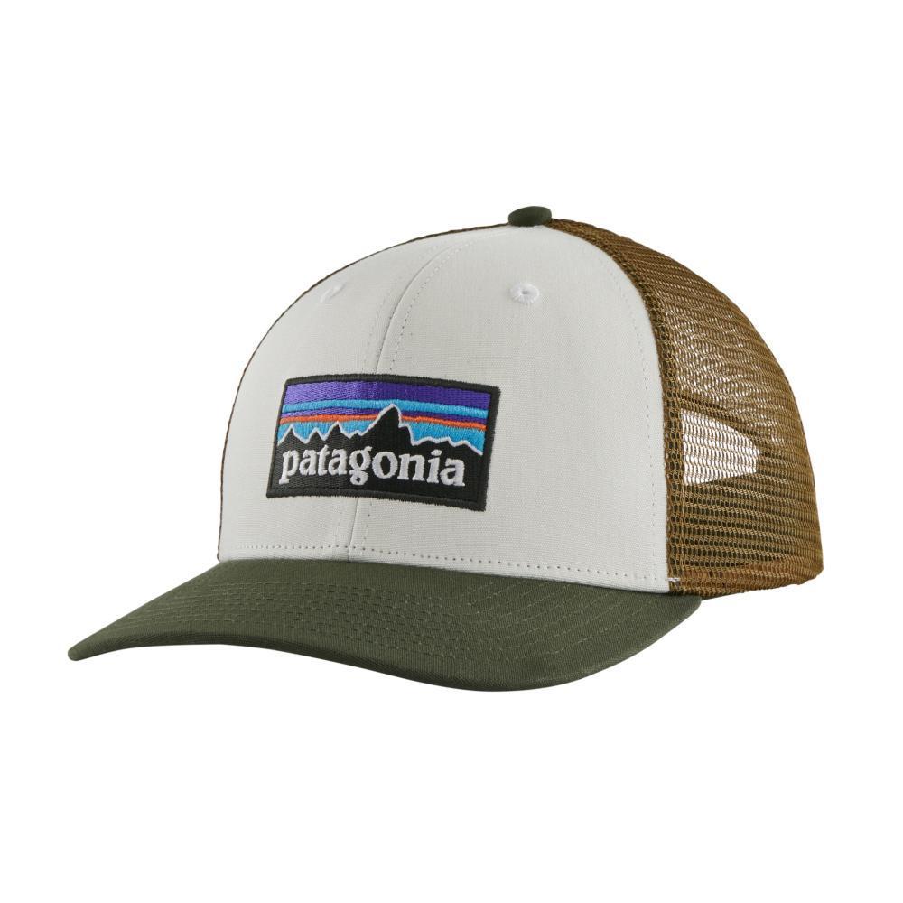 Patagonia P-6 Logo Trucker Hat WHITE_WKFO