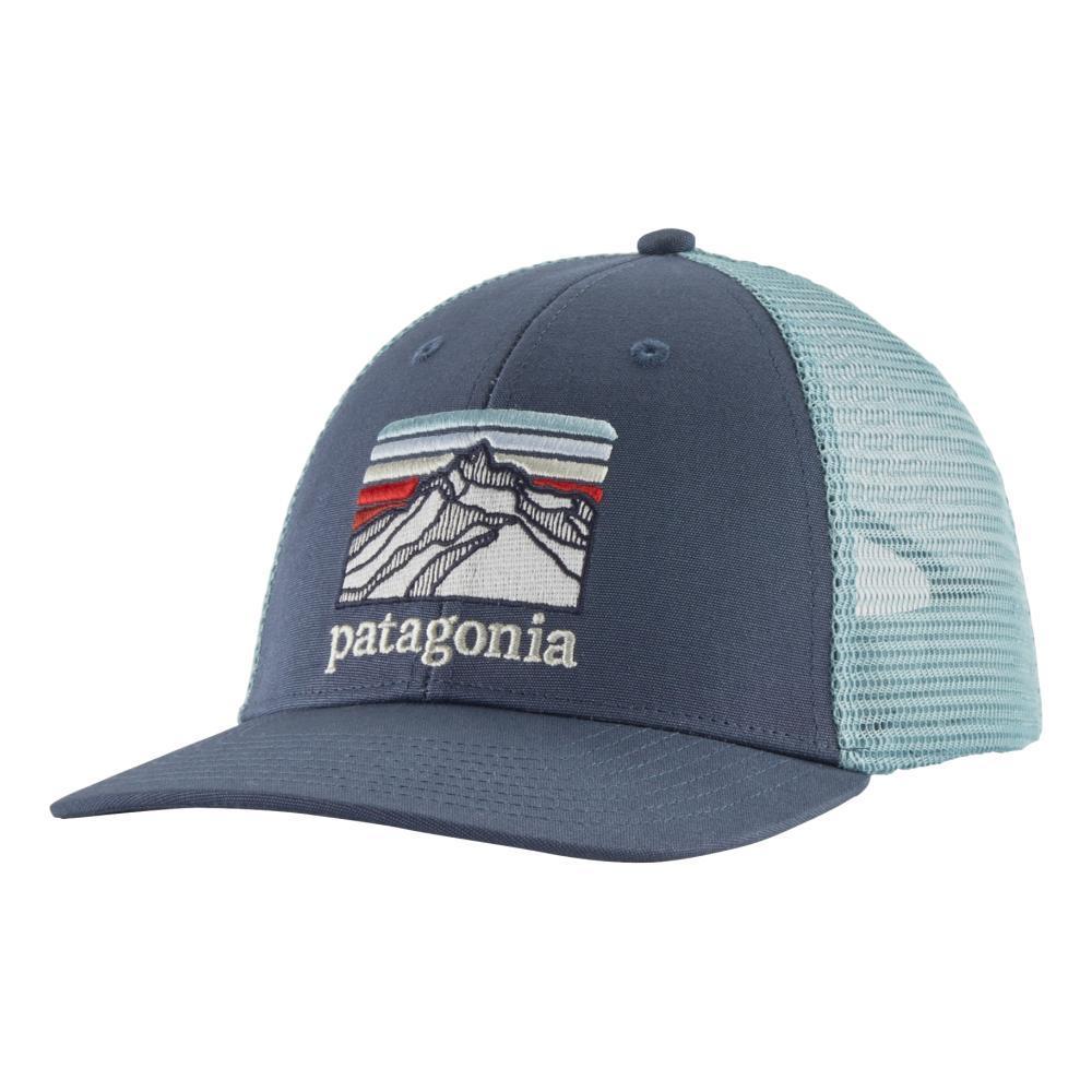 Patagonia Line Logo Ridge LoPro Trucker Hat DBLUE_DLMB