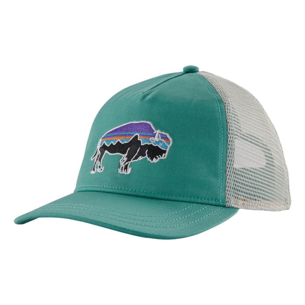 Patagonia Women's Fitz Roy Bison Layback Trucker Hat GREEN_LBYG