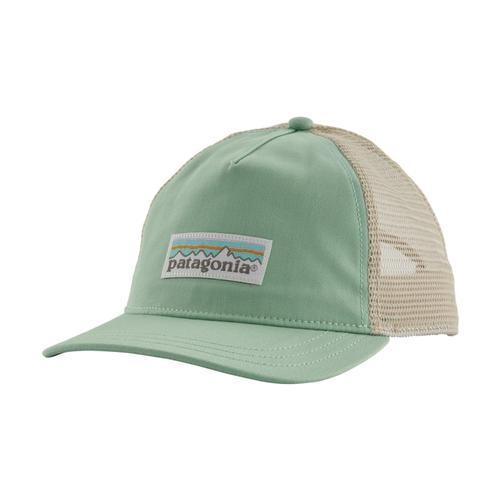 Patagonia Women's Pastel P-6 Label Layback Trucker Hat Green_gypg