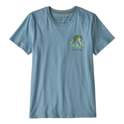 Patagonia WomenÕs Fiber Activist Organic Cotton Crew T-Shirt Blue_bebl
