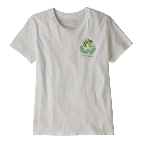 Patagonia Women's Fiber Activist Organic Cotton Crew T-Shirt White_whi