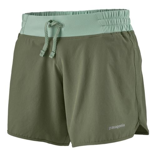 Patagonia Women's Nine Trails Shorts - 6in Green_cmpg