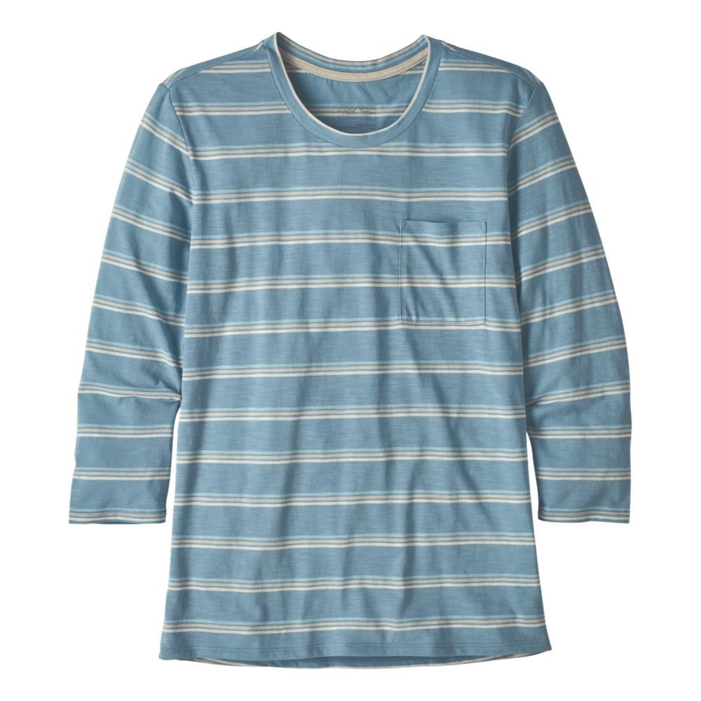 Patagonia Women's Mainstay 3/4 Sleeved Top BLUE_PSBE