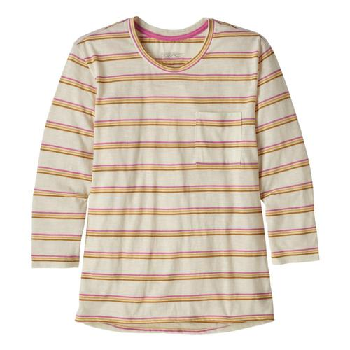 Patagonia Women's Mainstay 3/4 Sleeved Top Pink_psma