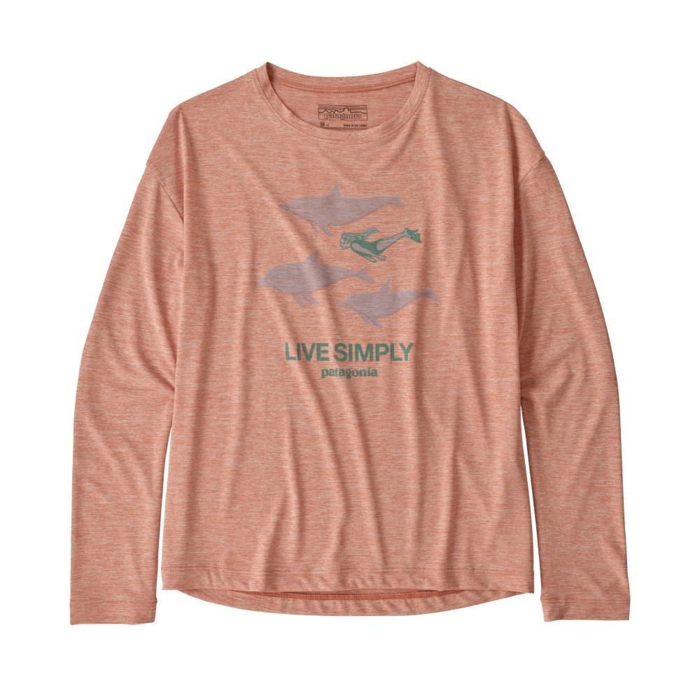 Patagonia Girls Long-Sleeved Capilene Cool Daily T-Shirt MELON_LPME