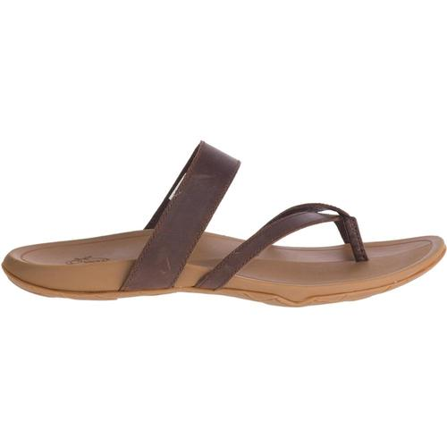 Chaco Women's Lost Coast Leather Sandals Cognac