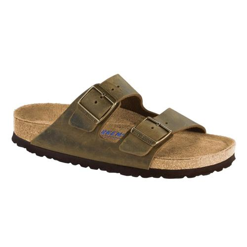 Birkenstock Men's Arizona Soft Footbed Oiled Leather Sandals Jade.Ol