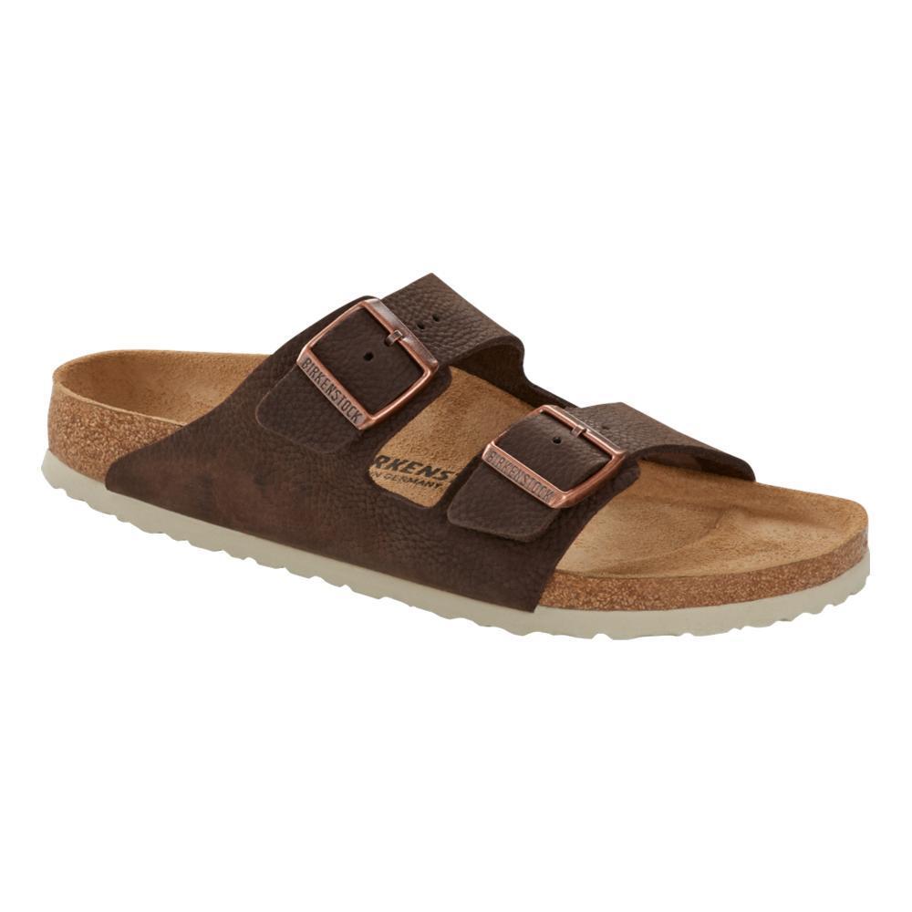 Birkenstock Men's Arizona Nubuck Leather Steer Soft Brown Sandals - Regular SBROWN.NB