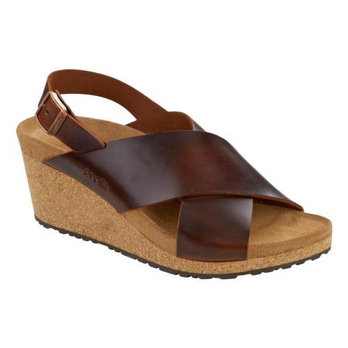 Birkenstock Papillio Women's Samira Natural Leather Sandals - Narrow Cognac