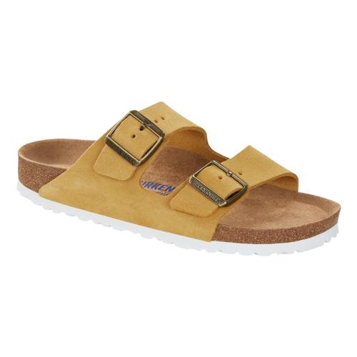 Birkenstock Women's Arizona Soft Footbed Sandals - Regular Ochre.Sd
