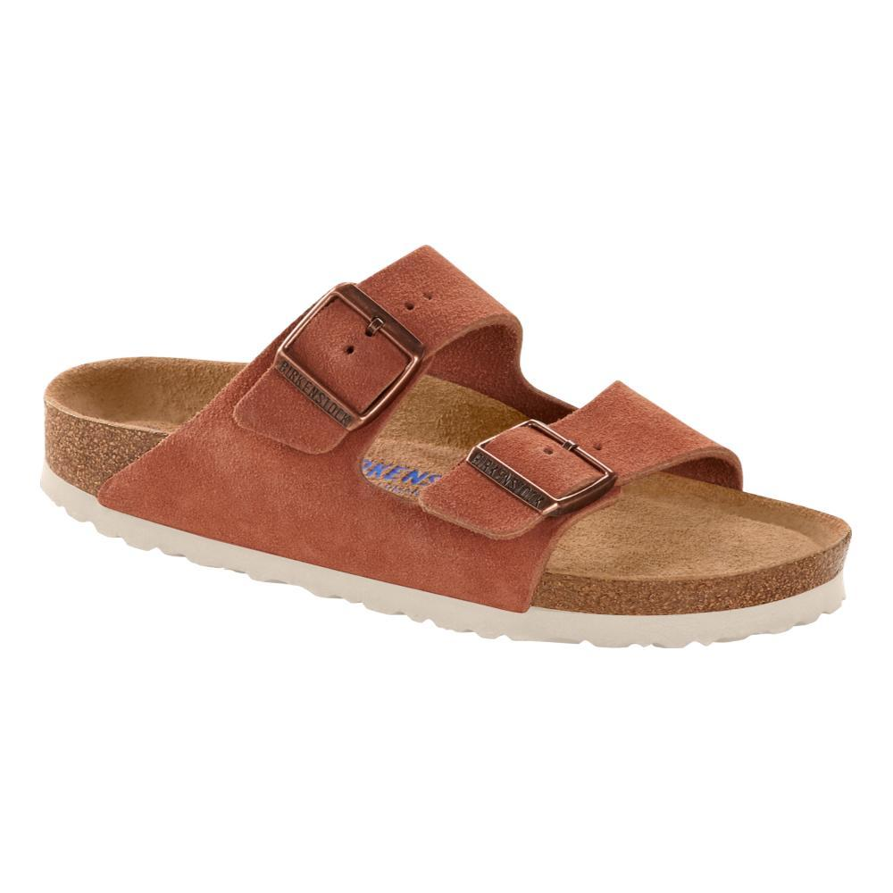 Birkenstock Women's Arizona Soft Footbed Suede Leather Sandals - Narrow EARTHRED.SD