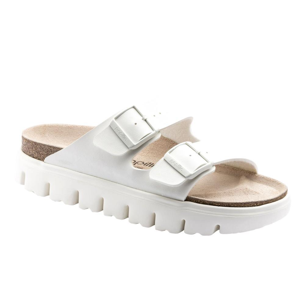 Birkenstock Women's Arizona Chunky Birko-Flor Sandals - Narrow WHT.BRKO