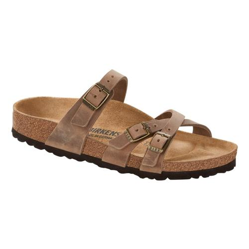 Birkenstock Women's Franca Oiled Leather Sandals Tobacco