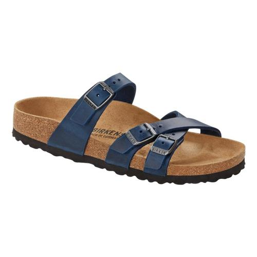 Birkenstock Women's Franca Oiled Leather Sandals - Regular Blue