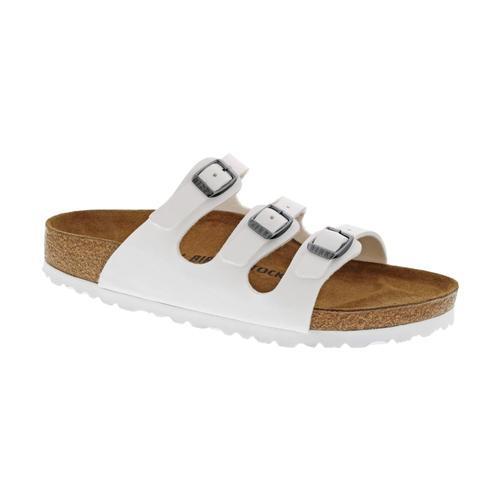 Birkenstock Women's Florida Birko-Flor Sandals - Regular White.Brko