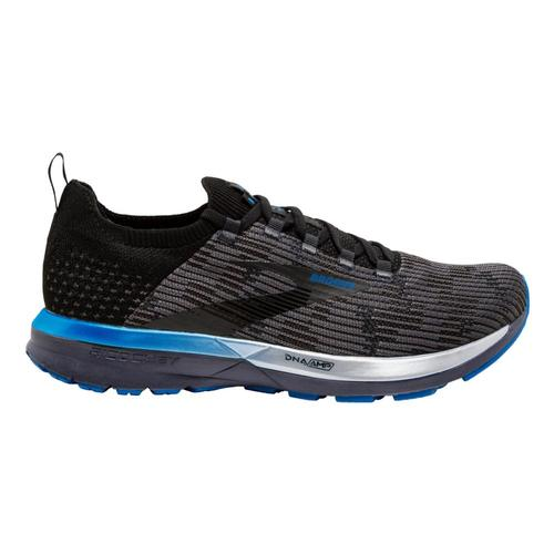 Brooks Men's Ricochet 2 Road Running Shoes Blk.Gry.Blu_053