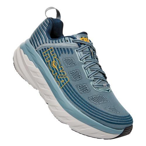 HOKA ONE ONE Men's Bondi 6 Road Running Shoes - Wide Lead.Mblu_lmcb