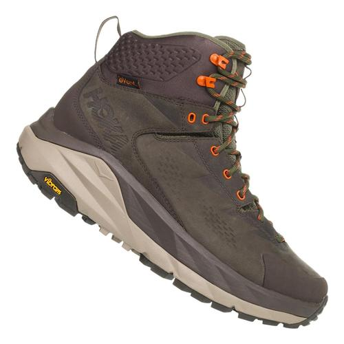 HOKA ONE ONE Men's Kaha GTX Hiking Boots Bkolv.Grn_bogr