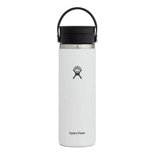Hydro Flask 20oz Wide Mouth Water Bottle White