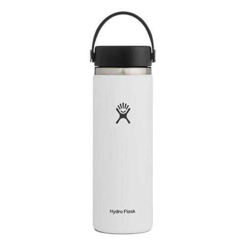 Hydro Flask 20oz Wide Mouth - Flex Cap White