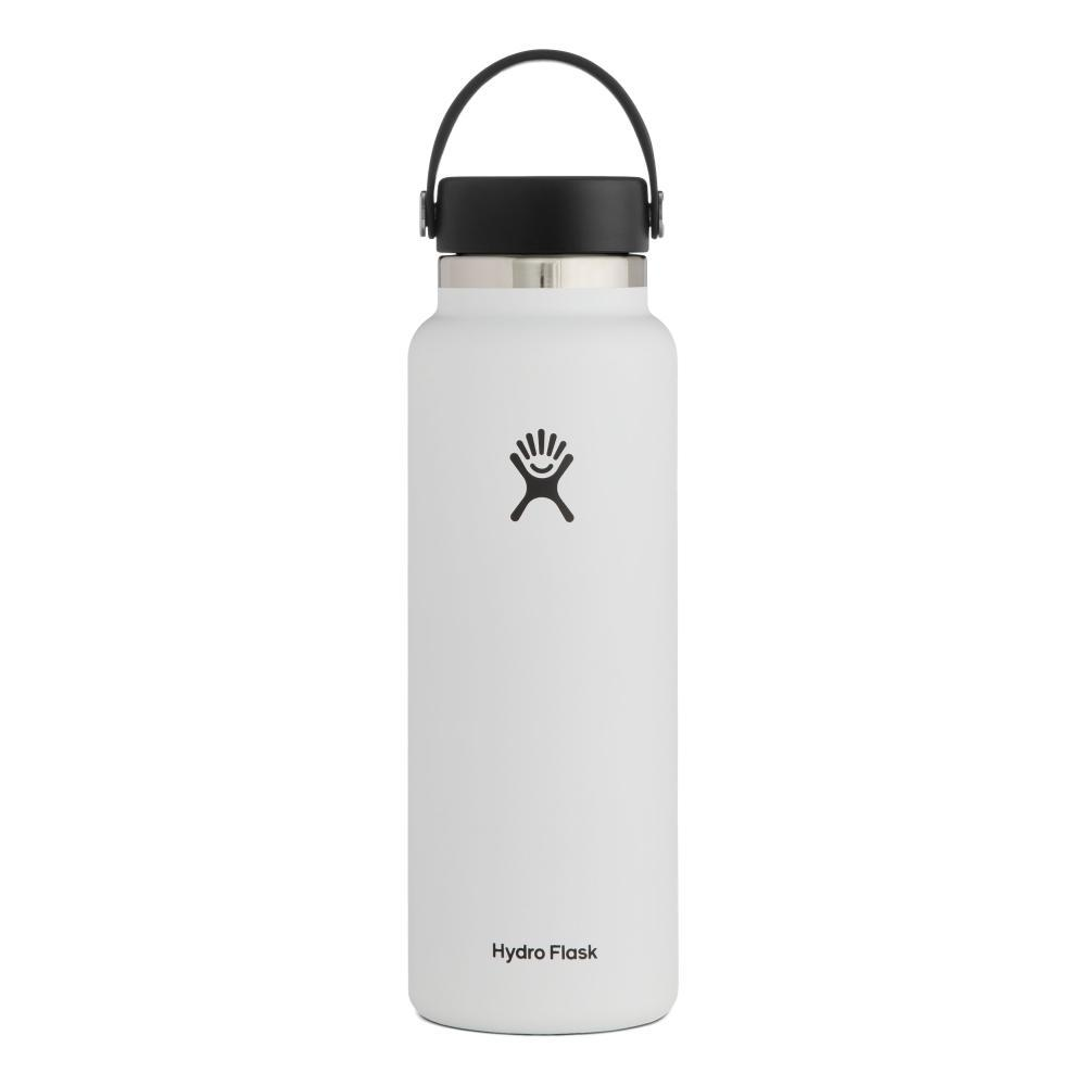 Hydro Flask 40oz Wide Mouth - Flex Cap WHITE