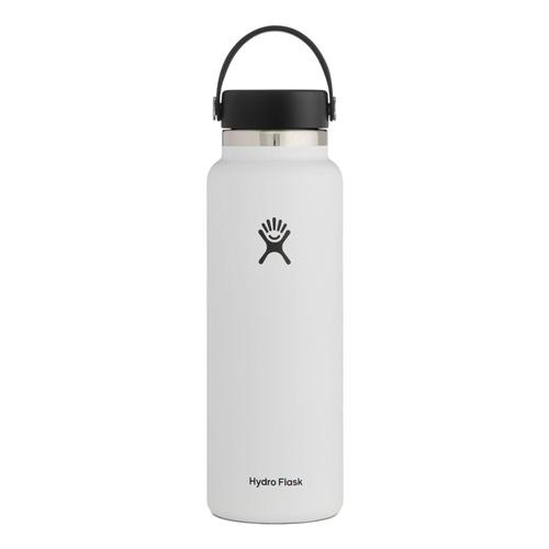 Hydro Flask 40oz Wide Mouth - Flex Cap White