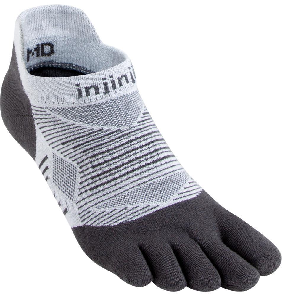Injinji Unisex Run Lightweight No-Show Socks GRAY