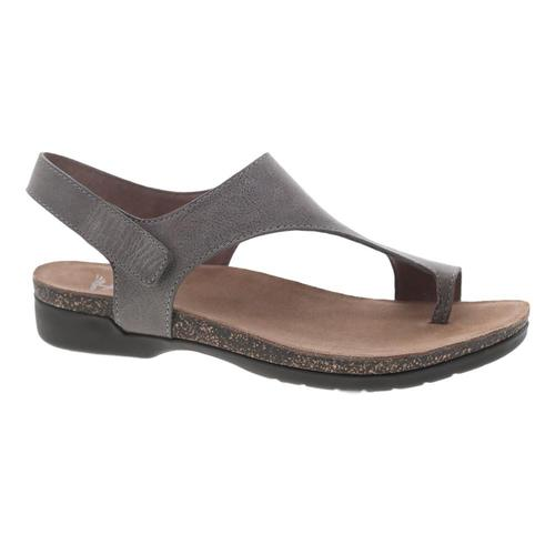 Dansko Women's Reece Stone Waxy Burnished Sandals Stn.Wx.Brns