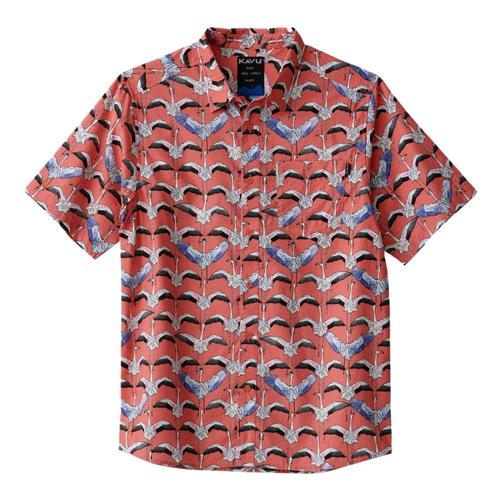 Kavu Men's The Jam Short Sleeve Shirt Pink_1225