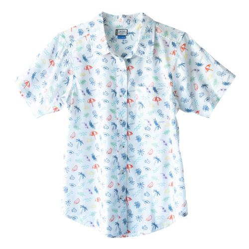 Kavu Women's Girl Party Short Sleeve Shirt Beachdays_1480